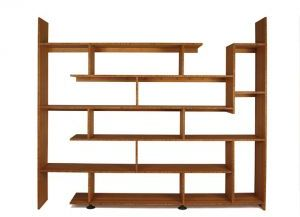 Brave Space Designs Bamboo Staggered Bookcase