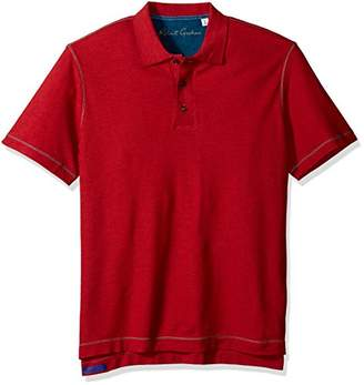 Robert Graham Men's Short Sleeve Classic Fit Jersey Model Polo