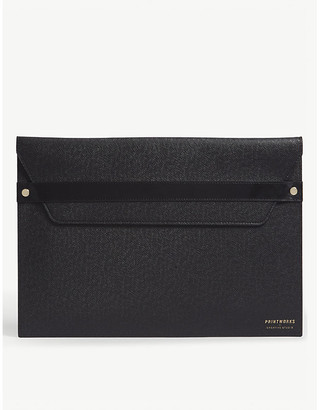 """Print Works Textured leather 13"""" laptop case"""