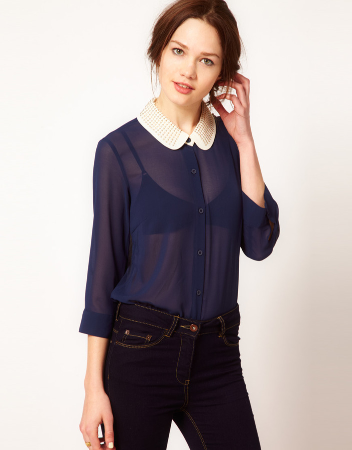 Vero Moda Blouse With Embellished Collar