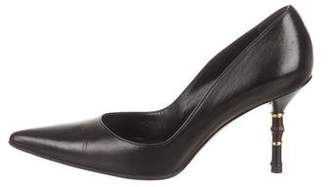 Gucci Leather Pointed-Toe Pumps