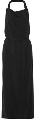 DKNY - Twill Halterneck Dress - Black $355 thestylecure.com
