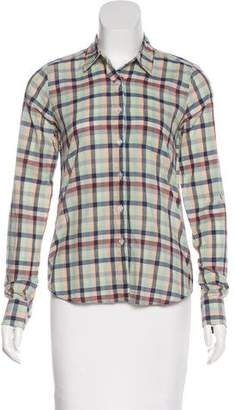 Steven Alan Long Sleeve Button-Up Top