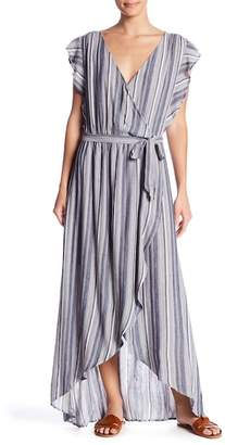 Splendid Tulip Sleeve Striped Maxi Dress