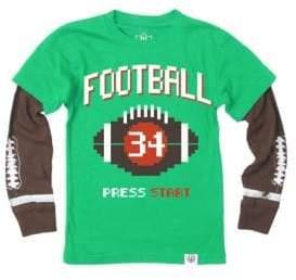 Baby Boy's, Little Boy's & Boy's Press Start Football Long-Sleeve Cotton Tee