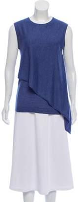 Derek Lam Sleeveless Cashmere-Blend Sweater Blue Sleeveless Cashmere-Blend Sweater