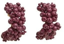 MANGO Bead hoop earrings