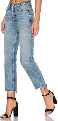 GRLFRND x REVOLVE Helena High-Rise Straight Jean $228 thestylecure.com