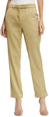 Etro Deco-Square Jacquard Trouser Pants
