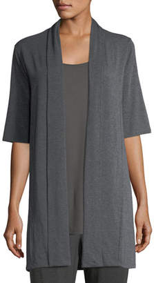 Eileen Fisher Long Lightweight Stretch-Jersey Cardigan