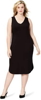 69dd4c386e Daily Ritual Women s Plus Size Jersey Sleeveless V-Neck Dress
