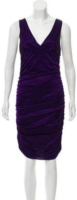 Versace Ruched Bodycon Dress