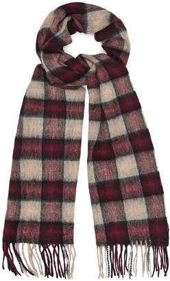 Reiss ASTIN LAMBSWOOL CASHMERE BLEND SCARF Burgundy