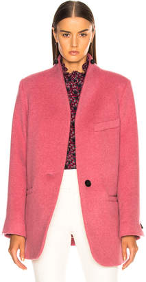 Isabel Marant Felis Coat in Antique Pink | FWRD
