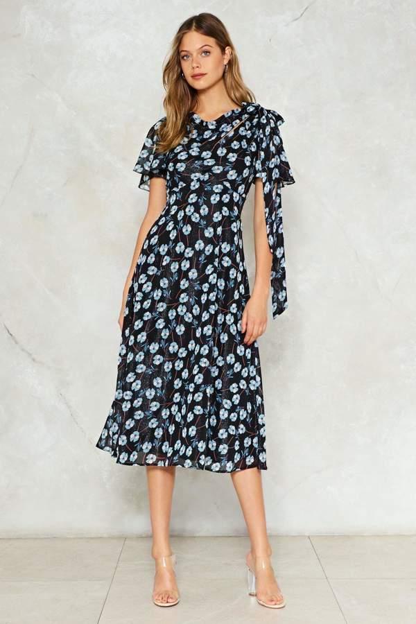 nastygal Bud to the Bone Floral Midi Dress