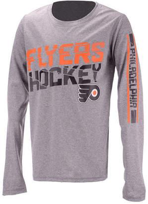 Outerstuff Philadelphia Flyers Break Lines Long Sleeve T-Shirt, Big Boys (8-20)