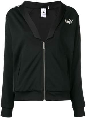 Karl Lagerfeld Paris logo zipped bomber jacket