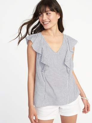 Old Navy Relaxed Ruffle-Trim Sleeveless Top for Women