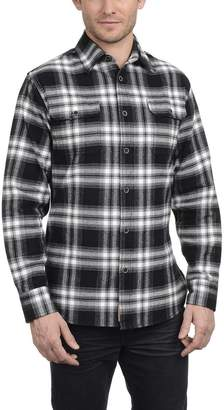 Jachs Men's Brawny Flannel Shirt (, Black)