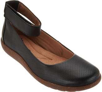 Clarks Leather Perforated Flats - Medora Nina