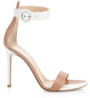 Gianvito Rossi Women's Leather Buckled Ankle Strap Sandals - Praline - Size 36 (6)