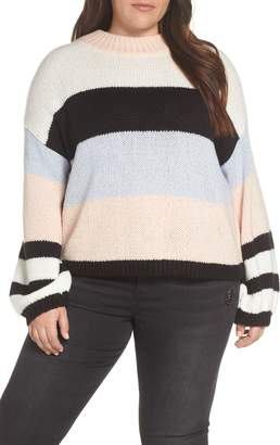 BP Fuzzy Stripe Pullover