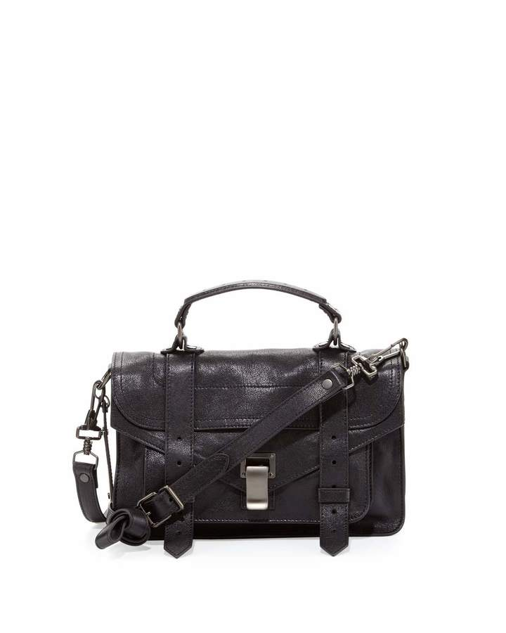 Proenza Schouler PS1 Tiny Mailbag, Black