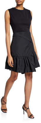 3.1 Phillip Lim Asymmetrical Shirt Dress w/ Overlap Skirt