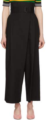 Enfold Back Belted Wide-Leg Trousers