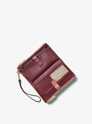 MICHAEL Michael Kors Adele Two-Tone Leather Smartphone Wallet