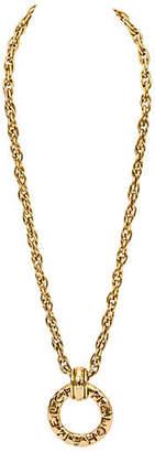 One Kings Lane Vintage Chanel Door Knocker Pendant Necklace