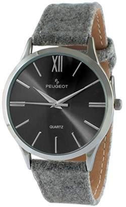 Peugeot Women's 'Slim Case' Quartz Metal and Canvas Casual Watch