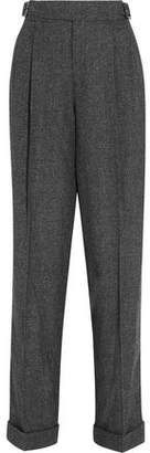 Tom Ford Prince Of Wales Wool Silk And Cashmere-Blend Tapered Pants