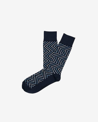Express Zigzag Knit Dress Socks