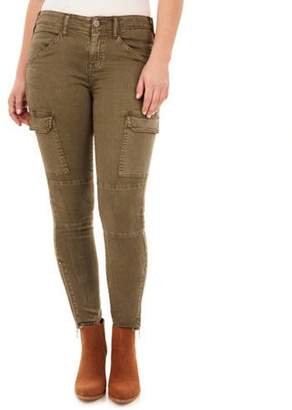 Angels Angel's Women's Cavalry Ankle Skinny Utility pants with Cargo Pockets