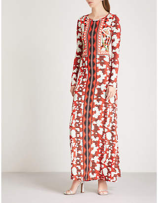 Temperley London Nellie printed stretch-crepe dress