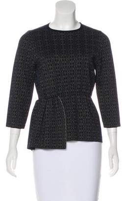 Dries Van Noten Merino Wool Peplum Top