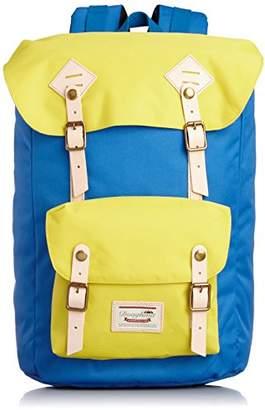 American Vintage (アメリカン ヴィンテージ) - [ドーナツ] DOUGHNUT American Vintage Nylon D8077A-0054-F 6135 (Sky Blue x Yellow)