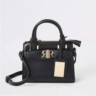 a8aff8758 River Island Womens Black RI mini cross body tote bag