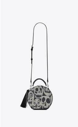 Saint Laurent Mica Small Box In Skull Pattern Printed Leather