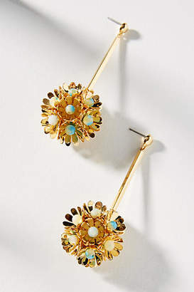 Lele Sadoughi Oasis Floral Drop Earrings