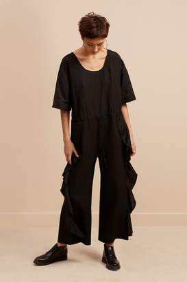 French Connenction Dae Drape Frill Jumpsuit
