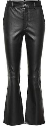 Helmut Lang Flared leather pants