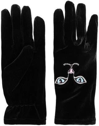 Vivetta cat embroidered mittens