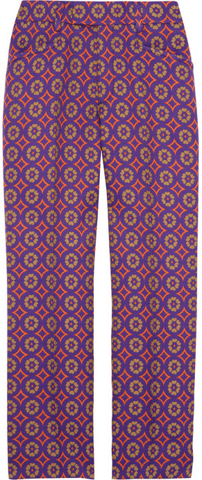 Miu Miu Cropped wool-blend brocade pants