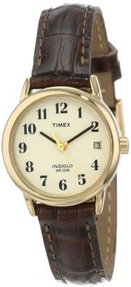 Timex Women's T20071 Indiglo Leather Strap Watch