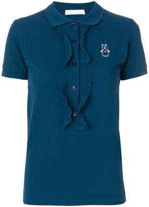 Peter Jensen frill trim polo shirt