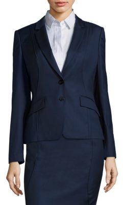BOSS Jenesa Piped Blazer $625 thestylecure.com
