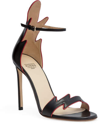 Francesco Russo Black 105 flame sandals