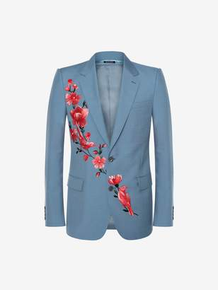 Alexander McQueen Floral Embroidered Jacket